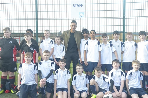 Hyndburn and Accrington Academy students join Premier League star Chris Smalling!