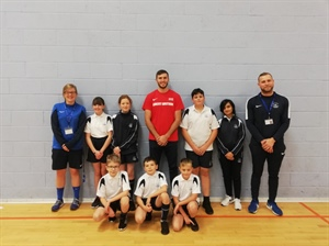 Decathlete inspires students at The Hyndburn Academy